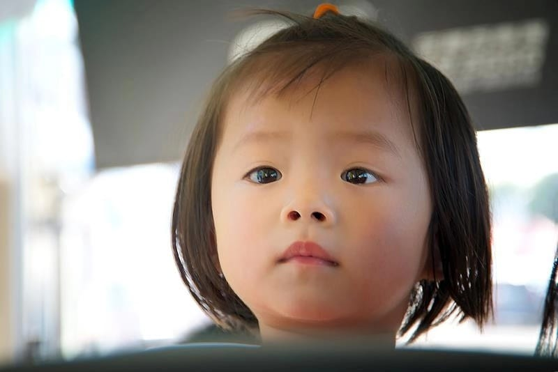 One little Chinese girl