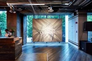 Liquid Laundry, wall art, restaurants, food and beverage, branding